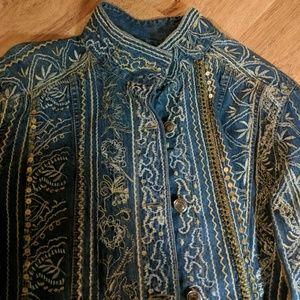 Embroidered denim jacket.. special
